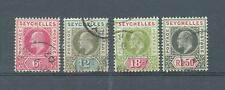 Seychelles 1903 crown CA sg.48-9, 51, 55 used