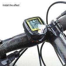 LCD sans fil numérique vélo Compteur de vitesse Odomètre Compteur Vélo Ordinateur version