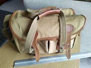 Classic Billingham 225 Camera Bag Khaki Canvas with tan leather