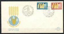 NEDERLAND ONBESCHREVEN FDC E-55 - ANTI-HONGER-AKTIE 1963 - OPEN KLEP       DV225