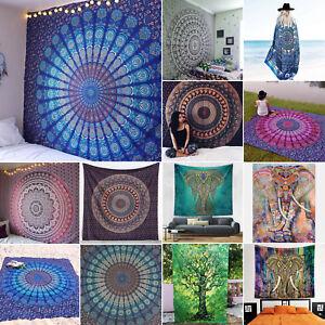Indian Mandala Tapestry Picnic Throw Boho Bedspread Cover Up Bikini Yoga Blanket