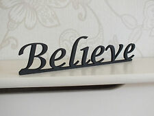 """Wooden Standing """"Believe"""" Plaque Words/Letters Home/sign Decoration"""