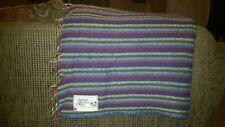 Amana Woolen Mills 70% Wool  30% nylon Striped Camp Stadium Throw Lap Blanket