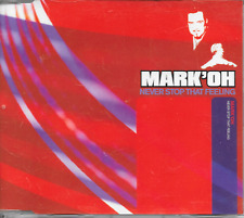 MARK OH' - Never stop that feeling CDM 3TR Trance Euro House 2001 UK release