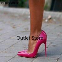 Patent Leather High Heel Shoe Sexy Pointed Toe  Woman Pumps Party Nightclub Pump