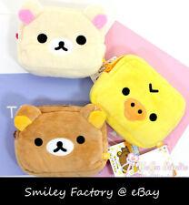Cute 1pc Plush Rilakkuma Card Holder Coin Pouch Phone Bag Wallet Gift Present