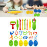 26x Dough Tool Play Set Modelling Doh Clay Craft Rolling Pin Cookie Cutter DIY