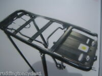 "Alloy Black 24"" 26"" 700c Cycle / Bike Luggage Pannier Rack"