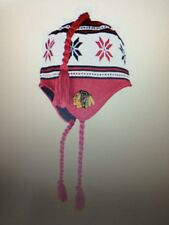 Chicago Blackhawks Boys Youth OSFM Tassle Winter Knit Hat Beanie Jersey Red Sox