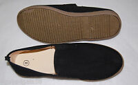 MENS CANVAS SHOES Casual TEXTURED SOLE Black 7 8 9 9.5 10 10.5 11 12 13 Slip On