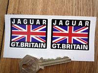 JAGUAR Great Britain Union Jack Style Stickers 50mm Pair Car XJS XJR C D E Type