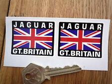 JAGUAR Grande-Bretagne Union Jack Style Autocollants 50mm paire voiture XJS XJR c d e type