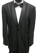 Black Jean Yves One Button Shawl Tuxedo Jacket Wedding Discout Great  Deal 42R
