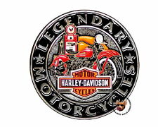 HARLEY DAVIDSON GAS PUMP BAR SHIELD VEST PIN LEGENDARY MOTORCYCLES