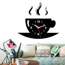 Living Room Kitchen Wall Clock Coffee Cup Shaped Decorative Modern Wall Clock