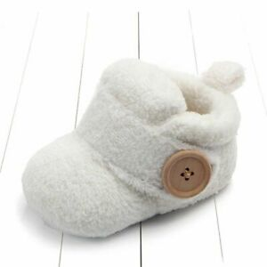 Soft First Walkers Shoes For Baby Non Slip Cute Toddler Slippers For Winter Kids