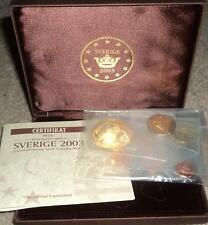 Sweden 2003 The Euro Proof BU Pattern Prototype Design Coin Gift Set in Case