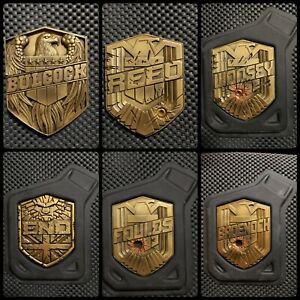 Judge dredd personalised badge. (resin)