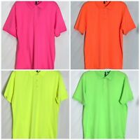 Premier Mens Fast Dry Cool Checker Polo Shirt Work Top Size Large PR615 New