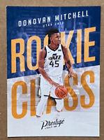 Donovan Mitchell RC 2017-18 Panini Prestige Rookie Class Utah Jazz #13