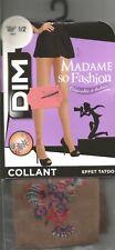 TATOUAGE collant DIM T 1/2 beige effet tatoo couleur Madame so fashion