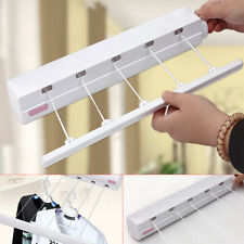 18M 5Line Retractable Clothes Airer Indoor Washing Line Laundry Wall Mount Dryer