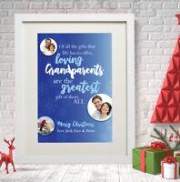 /'Grandma ETC Little Treasures/' CHRISTMAS GIFT PERSONALISED GRANDPARENTS PLAQUE
