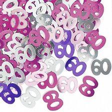 alles gute Zum Geburtstag alter 60 rosa Glitz Konfetti