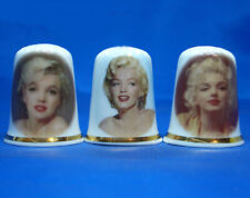 Birchcroft Thimbles -- Set of Three -- Marilyn Monroe