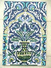 "12"" x 18"" Hand painted Ceramic tile Art  Wall mural panel Backsplash"