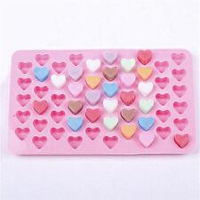 Schokoladenform Seifenform Herz Pralinenform Backform Eiswürfelform Silikon Rosa