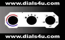VAUXHALL ASTRA Mk4 / ZAFIRA Mk1 (1998-2004) - WHITE HEATER CONTROL DIAL