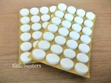 50 White Self Adhesive Sticky CD/DVD/Blu Ray Disc Foam Holders/Dots/Studs/Pads