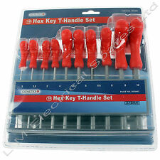 Quality T-handle Hex Allen Wrench Metric Tool Key Set & Stand 10 Piece 2 - 10mm