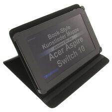 Funda para Acer Aspire Switch 10 Book Style de protección tablet carcasa negra