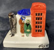 RARE! Hazle Ceramics ~ London Telephone Box ~ VERY HARD TO FIND