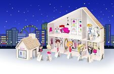 Toy Beauty Salon Play Hairdresser for Children Cardboard Spa Decorate Yourself