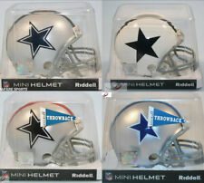 Lot of 4 DALLAS COWBOYS Riddell Mini Helmets (Current & Throwbacks)