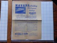 1954 One-Sheet Cruise Ad - Miami to Havana (S.S. Florida); Flights to Nassau
