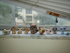 Littlest Pet Shop Lot of 9 Rodents. Hamsters, beaver, mouse, rat, guinea pig