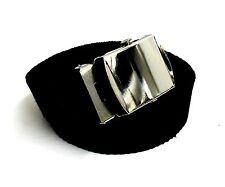 Men's black brown grey blue green beige red Cotton Nickel Buckle Adjustable Belt