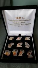 M & M 1992 WINTER OLYMPICS ALBERTVILLE 10 ENAMEL PIN FULL COMMEMORATIVE SET