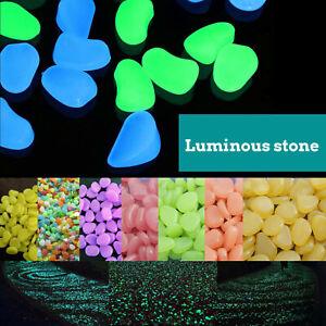 100X Glow in the Dark Luminous Pebble Fish Tank Aquarium Stone Garden Walkway UK
