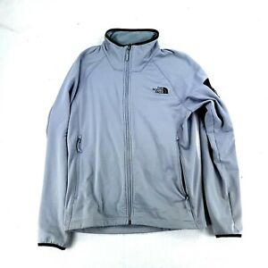 Men's Gray The North Face Full Zip Polyester Blend Long Sleeve Jacket Size Med