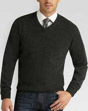 Joseph Abboud 100% Cashmere V Neck Sweater XL NEW With Tags Charcoal Gray