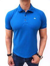 LACOSTE Men's Genuine! £80 Blue STRETCH FIT Polo T-SHIRT Size 4 Medium #4102