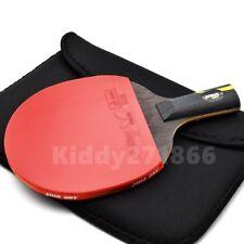 Double Happiness HURRICANE Wand Table Tennis Racket PING PONG Bat Short Handle