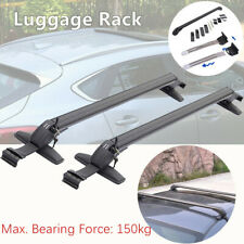 2*Car SUV Roof Rail Luggage Rack Baggage Carrier Cross Aluminum Black Anti-theft