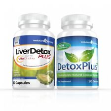 Liver Detox Plus Capsules & Colon Cleanse Diet Pills 1 Month Evolution Slimming