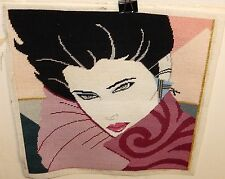 FASHION WOMAN EMBOSSED TAPESTRY UNFRAMED.